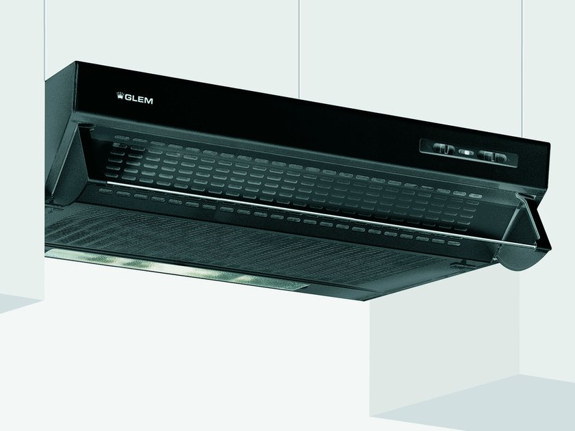 Wall-mounted cooker hood with integrated lighting GHL90BK   Cooker hood by Glem Gas