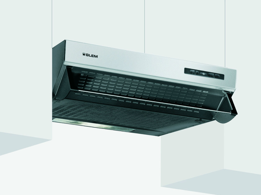 Wall-mounted cooker hood with integrated lighting GHL90IX   Cooker hood by Glem Gas