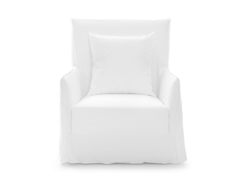 Armchair with armrests with removable cover GHOST 04 by Gervasoni