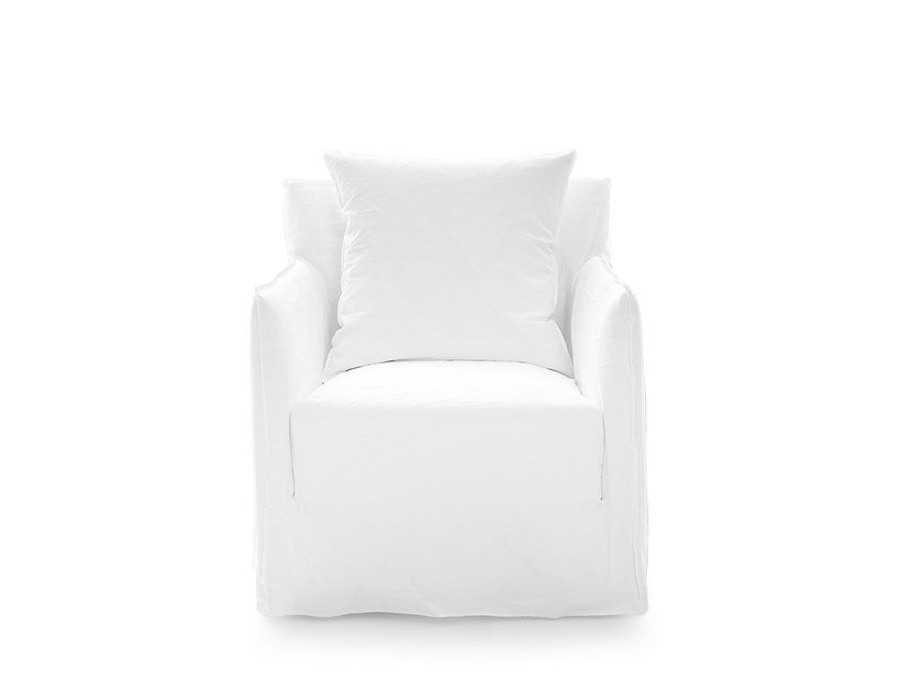 Armchair with armrests with removable cover GHOST 05 by Gervasoni