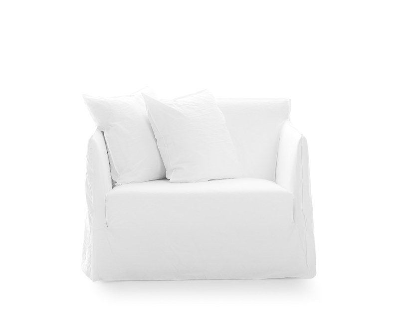 2 seater sofa with removable cover GHOST 09 by Gervasoni