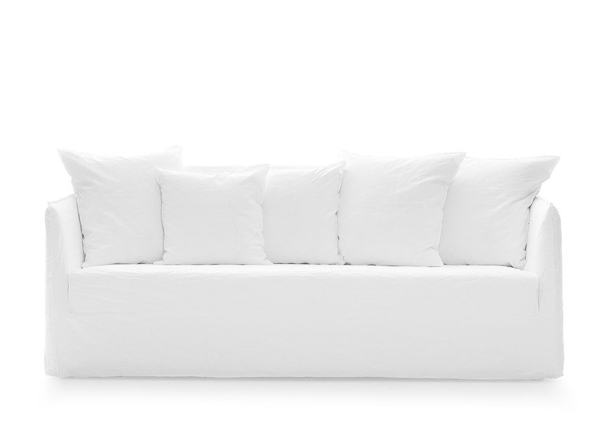 Fabric sofa with removable cover GHOST 10G by Gervasoni