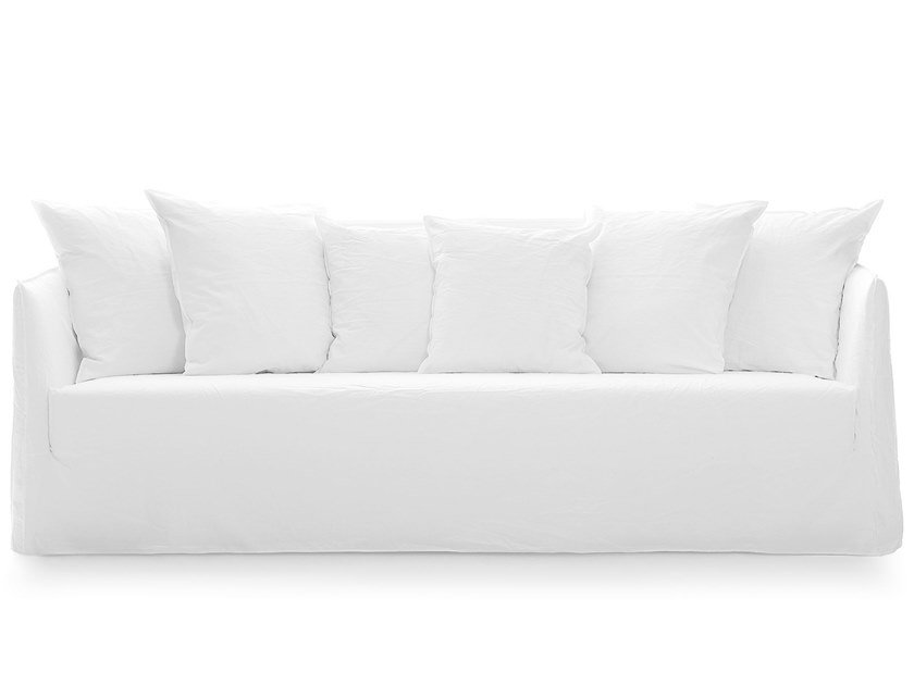 4 seater sofa with removable cover GHOST 12 by Gervasoni