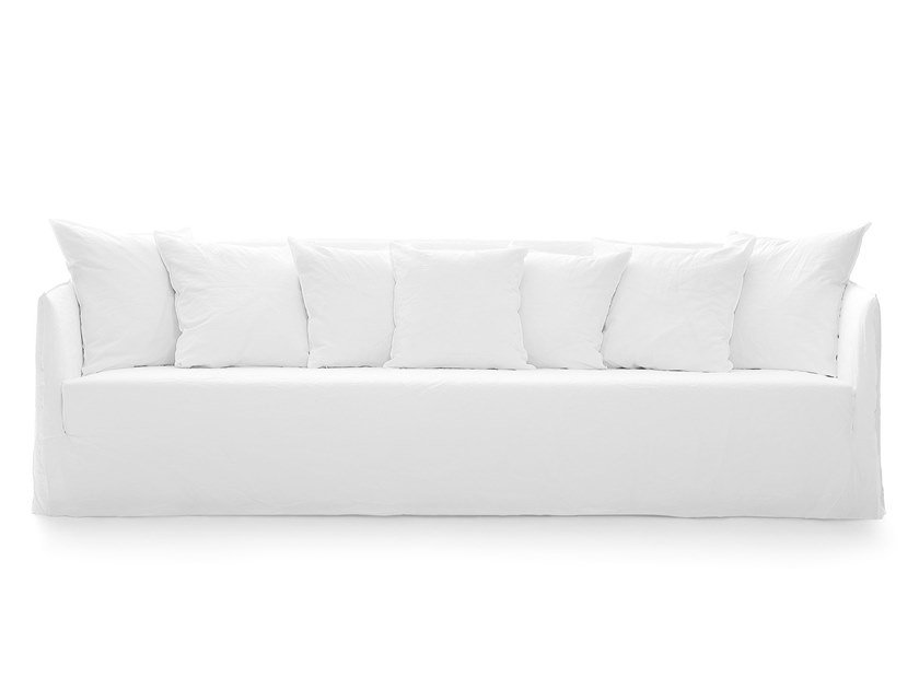 4 seater sofa with removable cover GHOST 14 by Gervasoni