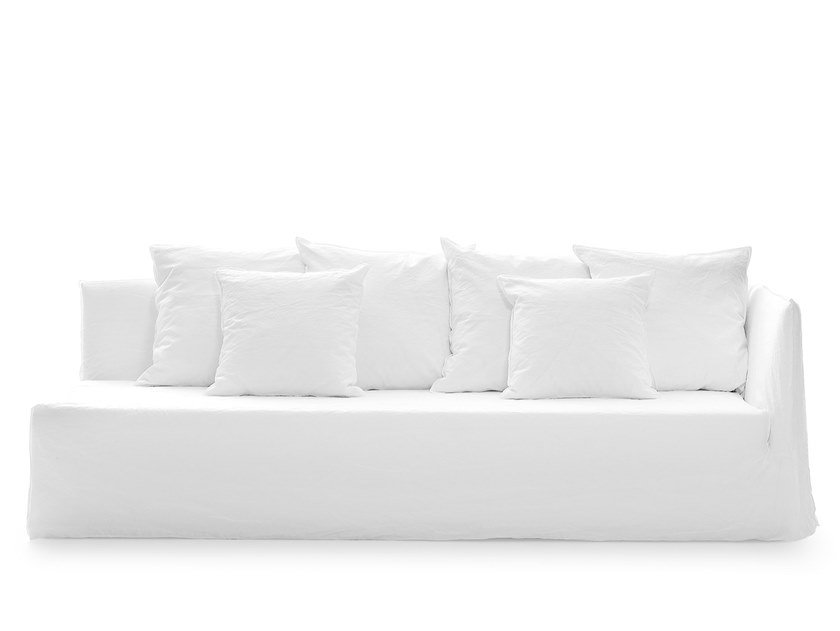 Fabric sofa with removable cover GHOST 22 L-R by Gervasoni