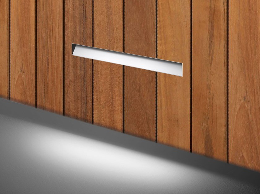LED wall-mounted Anodized aluminium steplight GHOST FOR CLADDING by SIMES