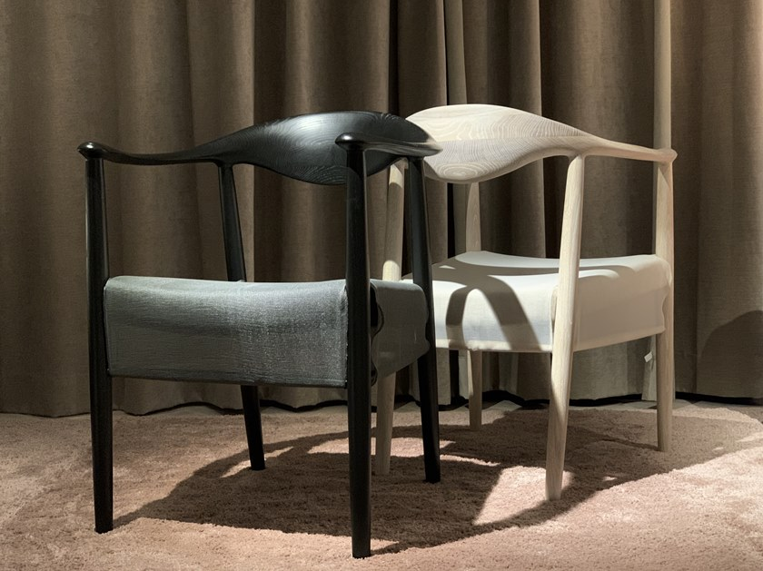 Dining chair and lounge chair GHOST by KYOHEI & MIRANDA