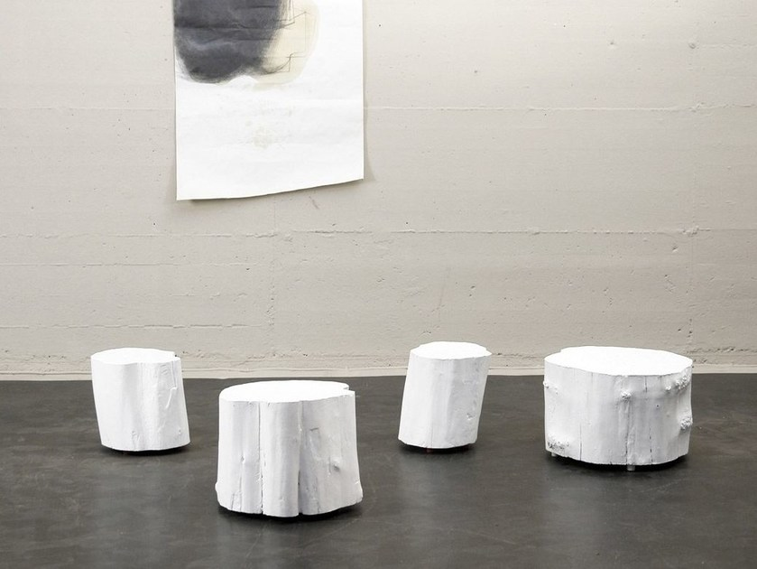 Low wooden coffee table for living room GHOST by Morgen