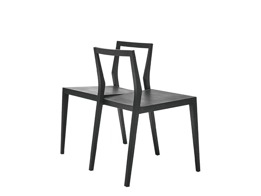 Open back wooden chair GHOST-W by MINT FACTORY