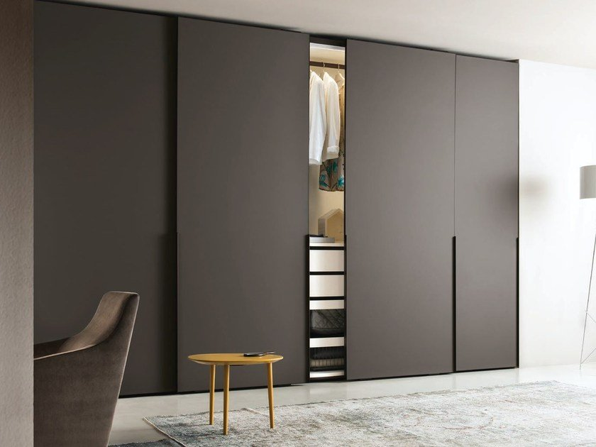 Contemporary style glass wardrobe with sliding doors GHOST | Wardrobe with sliding doors by JESSE : ghost door - pezcame.com