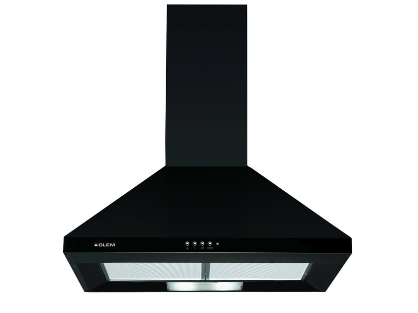 Wall-mounted cooker hood with integrated lighting GHP64BK | Cooker hood by Glem Gas