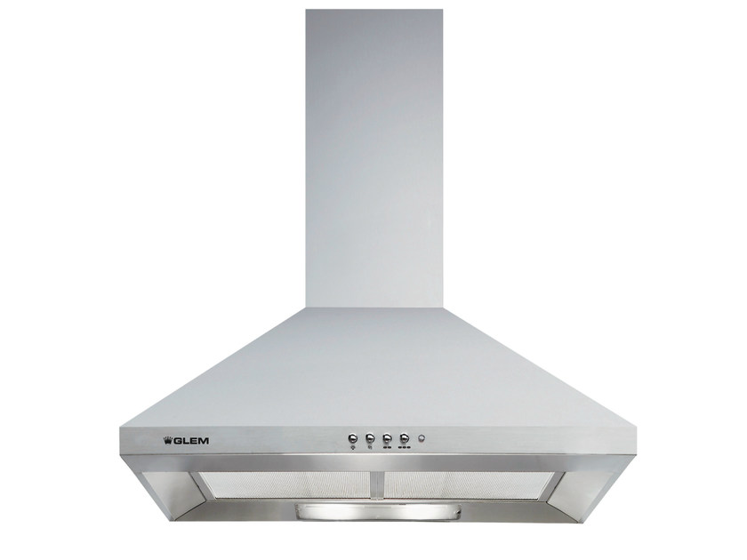 Wall-mounted cooker hood with integrated lighting GHP670IX | Cooker hood by Glem Gas