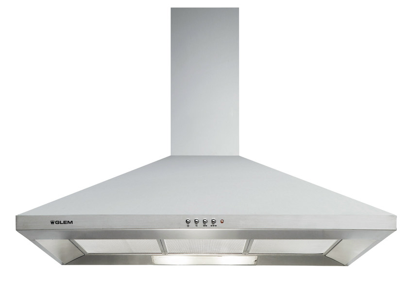 Wall-mounted cooker hood with integrated lighting GHP94IX | Cooker hood by Glem Gas