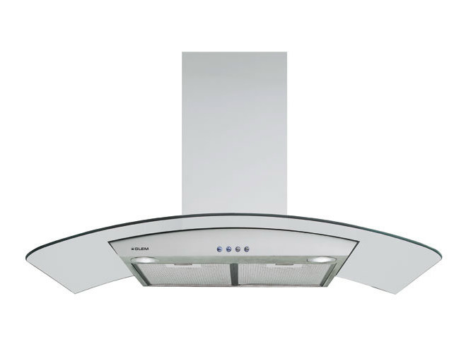 Ceiling-mounted cooker hood with integrated lighting GHS98IX | Cooker hood by Glem Gas