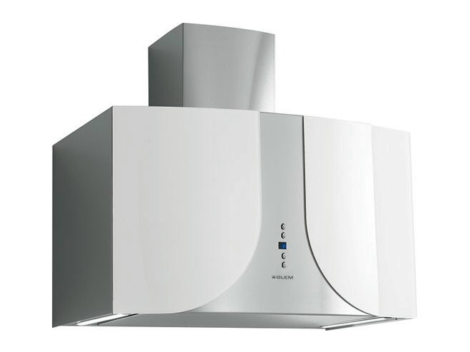 Wall-mounted cooker hood with integrated lighting GHWK68WH | Cooker hood by Glem Gas