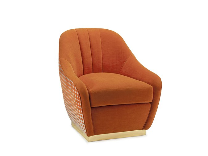 Fabric armchair with armrests GIA | Armchair by Mambo Unlimited Ideas