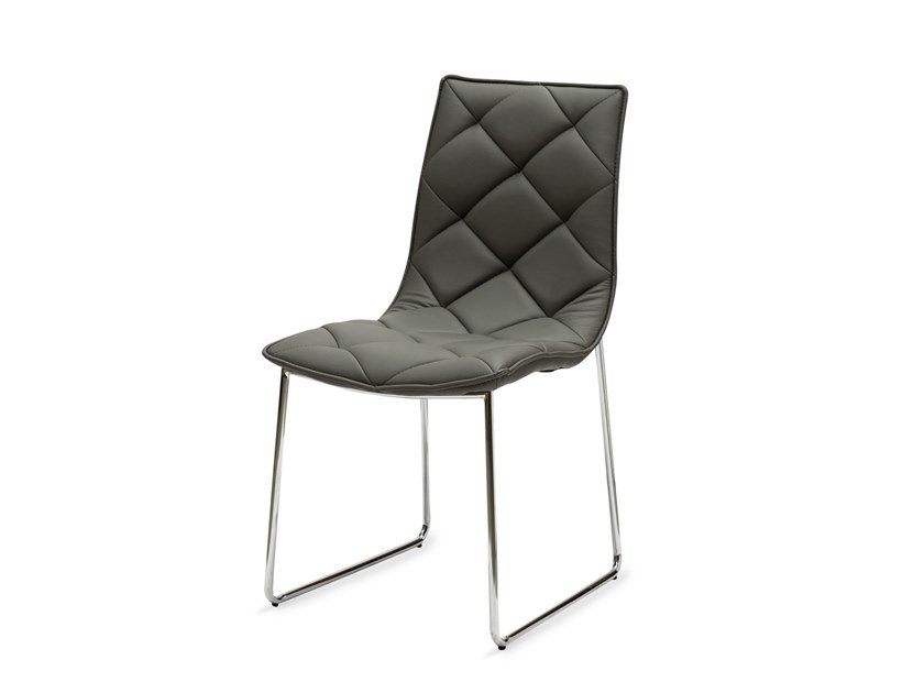Upholstered Eco-leather chair GIADA by La seggiola