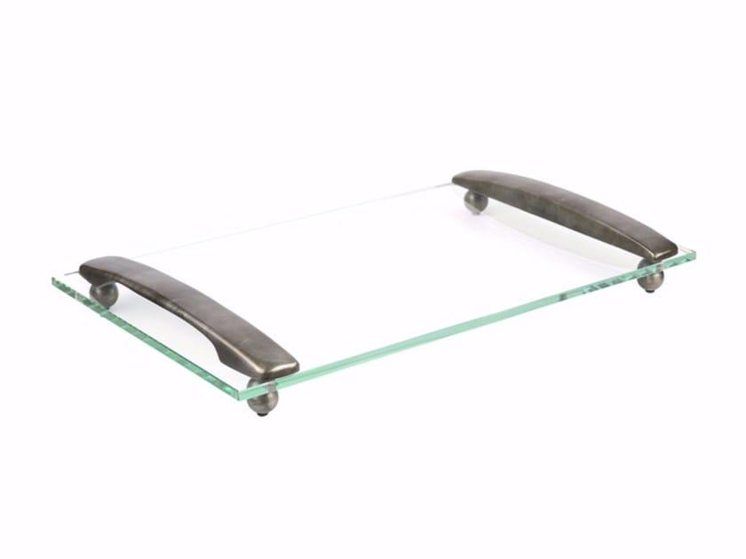 Rectangular glass tray GIANA by Hamilton Conte Paris