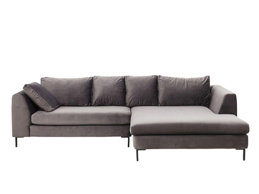 Corner fabric sofa GIANNA | Corner sofa by KARE-DESIGN