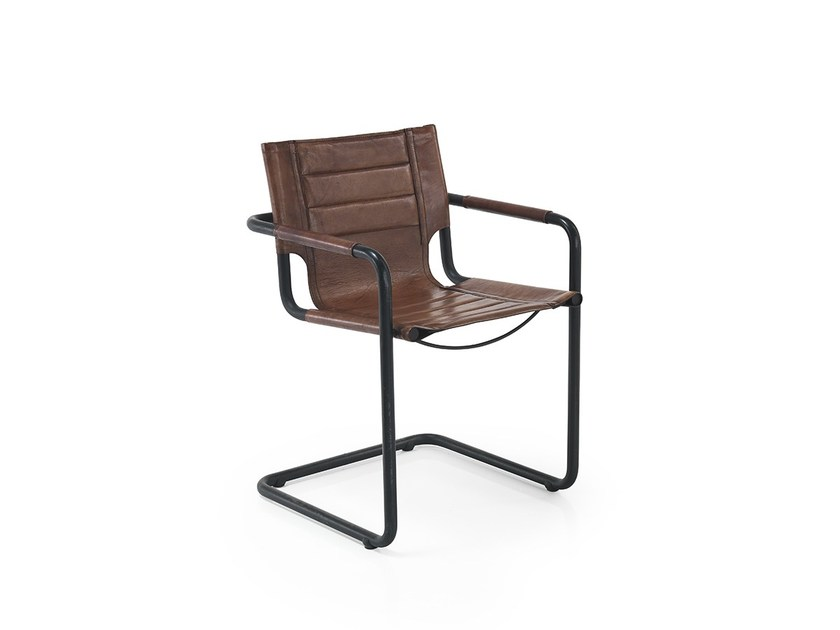 Cantilever chair with armrests GIANNI by Oliver B.