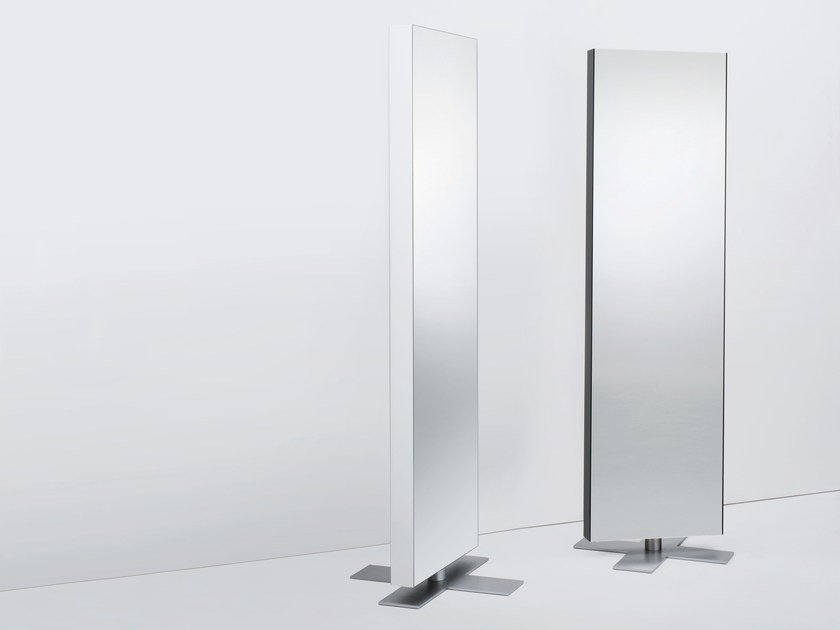Double-sided freestanding swivel mirror GIANO | Freestanding mirror by Glas Italia