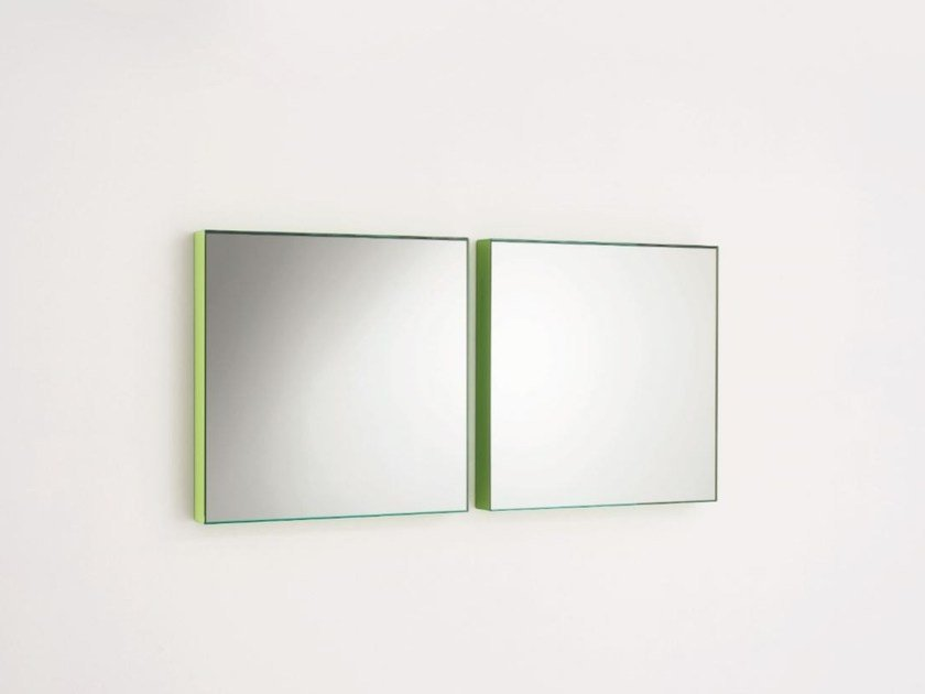 Square wall-mounted mirror GIANO   Wall-mounted mirror by Glas Italia