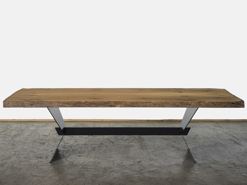 Rectangular reclaimed wood dining table GIAVERA by A&B Rosa dei Legni