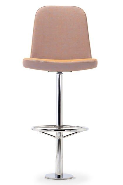 Contemporary style high upholstered stool GIBBS STOOL | Stool by Domingo Salotti