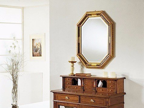 Wall-mounted framed mirror GIGLIO | Mirror by Arvestyle