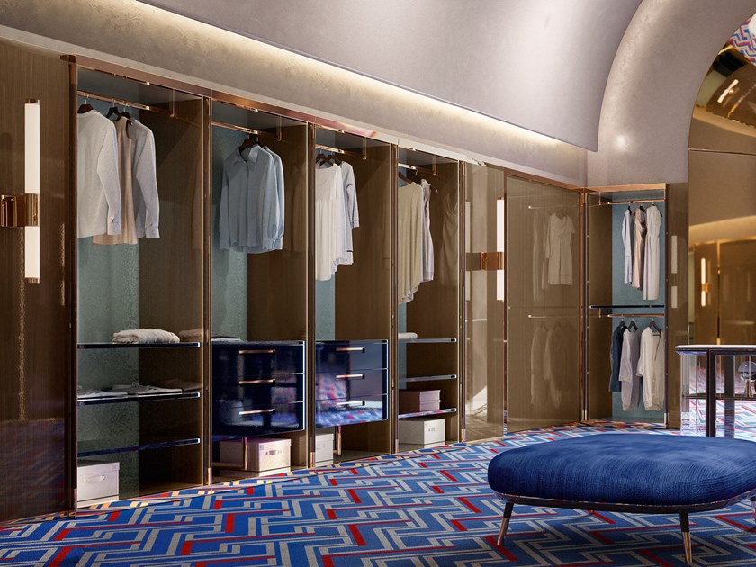 Sectional walk-in wardrobe GILDA | Walk-in wardrobe by VOLPI