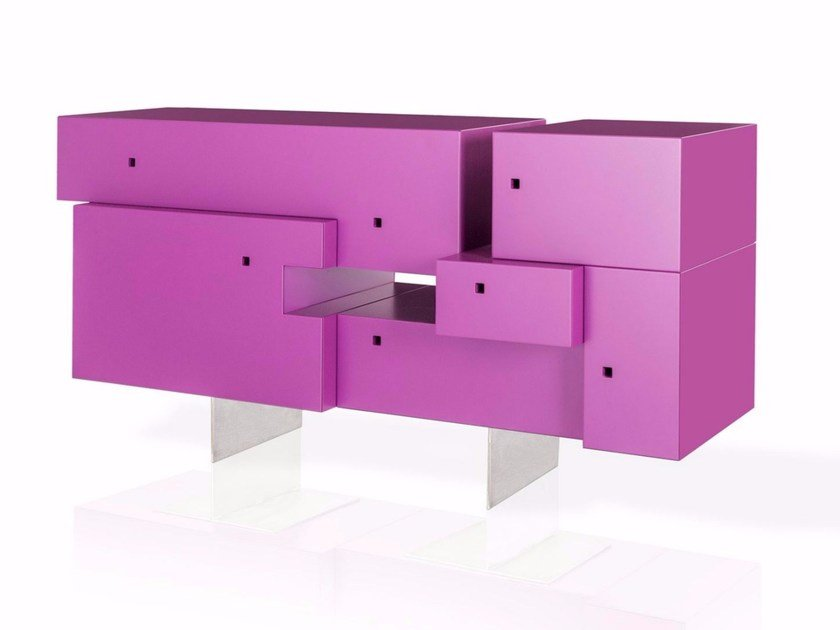 Lacquered sideboard with doors GILI by ARKOF LABODESIGN