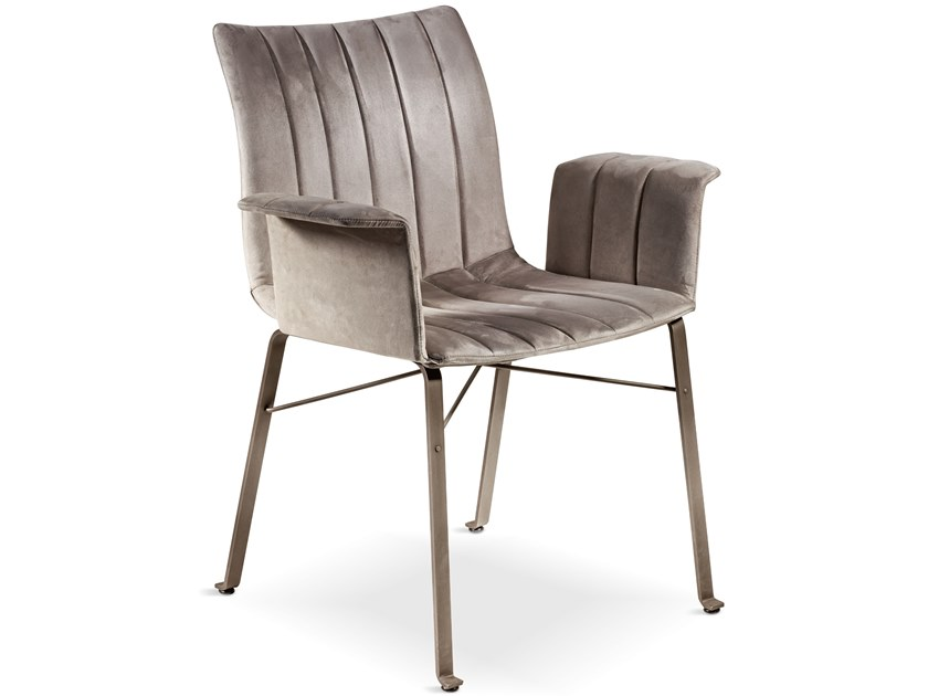 Eco-leather chair with armrests GINEVRA | Chair with armrests by Cantori