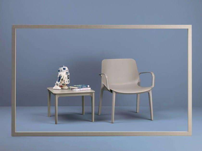 Lounge Braccioli Design In Impilabile Giardino Scab Poltroncina Ginevra Tecnopolimero Con Da stQhdrC