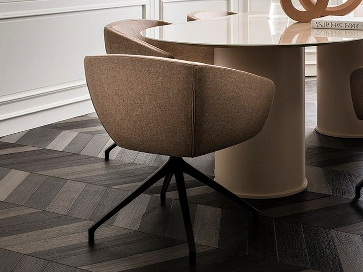 Fabric chair with armrests GINKO by L'Ottocento