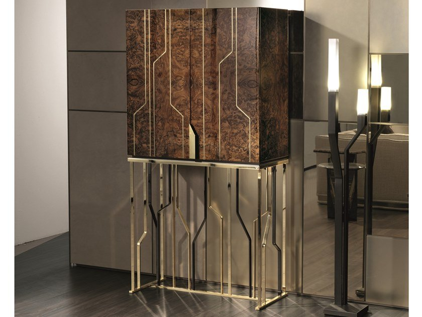 Ginza bar mobile bar in legno collezione loveluxe essence by