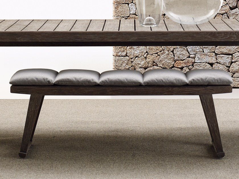 Teak garden bench GIO | Garden bench by B&B Italia Outdoor