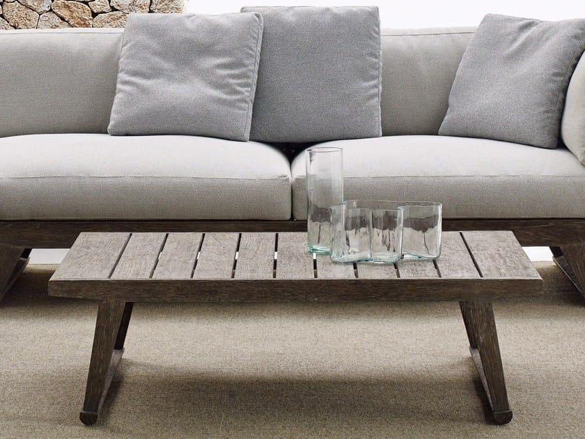 Rectangular teak garden side table GIO   Garden side table by B&B Italia Outdoor