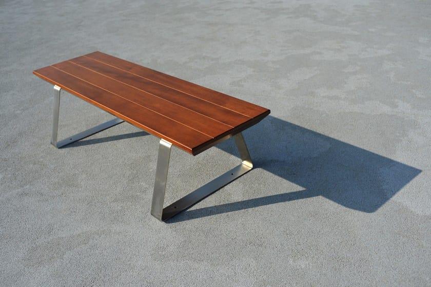 Panchina in legno senza schienale GIO by LAB23 - Urban Smart Living