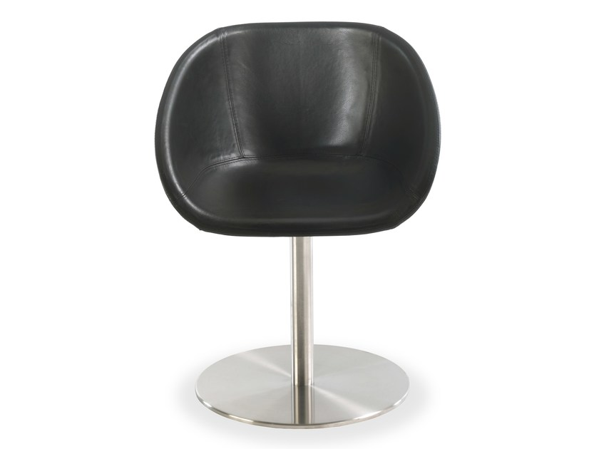 Swivel leather chair GIOCONDA LEATHER by Riva 1920