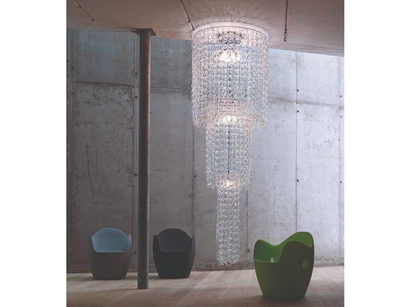 Crystal ceiling lamp GIOGALI PL CA1 by Vetreria Vistosi