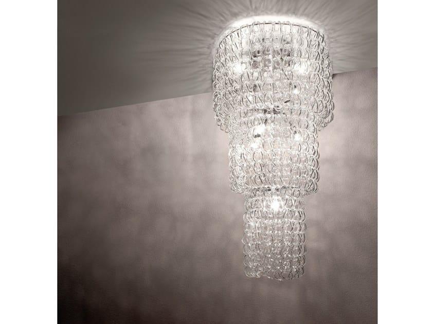 Crystal ceiling lamp GIOGALI PL CA3 by Vetreria Vistosi