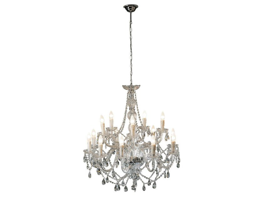 Glass chandelier GIOIELLO CRYSTAL CLEAR 14 by KARE-DESIGN
