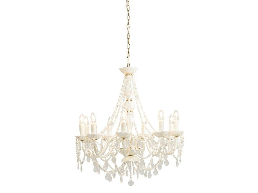 Glass chandelier GIOIELLO CRYSTAL CLEAR 9 by KARE-DESIGN