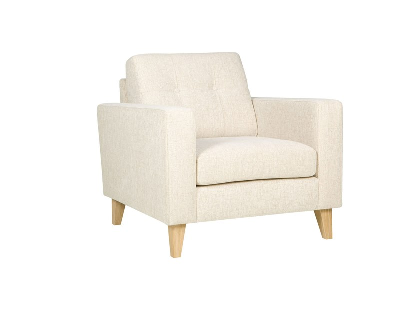 Tufted upholstered fabric armchair with armrests GIORGIO | Armchair by Sits
