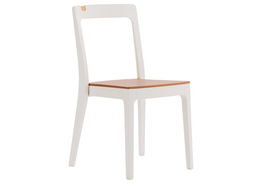 Stackable beech chair GIORGIO SE01 by New Life