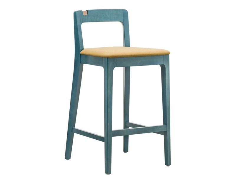 High beech stool with back GIORGIO SG02 by New Life