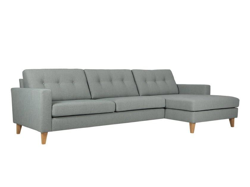 Tufted fabric sofa with chaise longue GIORGIO | Sofa with chaise longue by Sits
