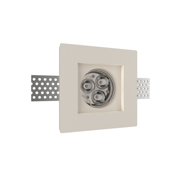 LED recessed gypsum spotlight GIOTTO 1 Q by NEXO LUCE