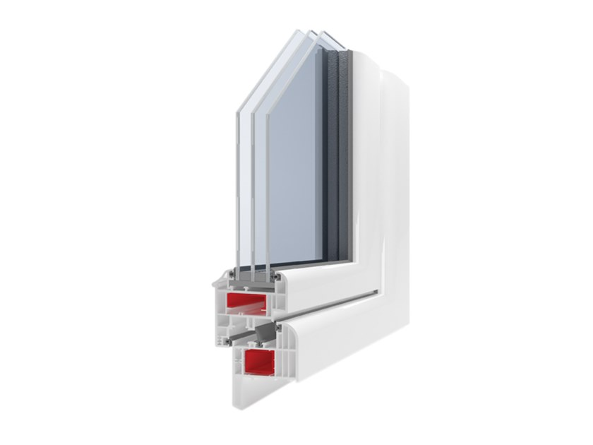 PVC thermal break window GIOTTO 5C by Ital-Plastick