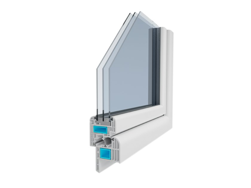 PVC triple glazed window GIOTTO 9C FIBER by Ital-Plastick